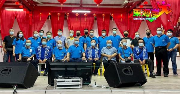 甘马挽俱乐部2021年新届理事会,由徐金福(前排左4)接棒主席,前排左起为曾建文、萧德瑞、周世强、萧德华、曾柏涛、龚恩德及张锦汉。