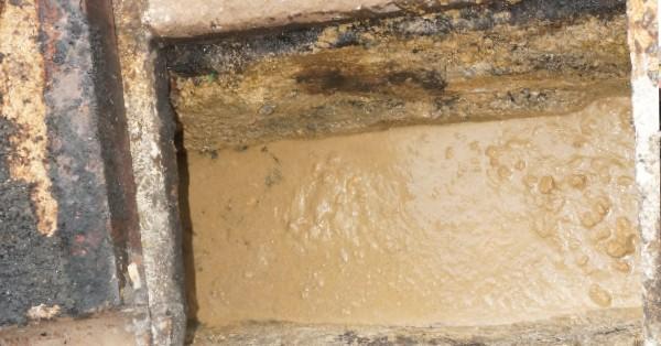 关丹灿烂园小食中心沟渠,因常年累月被倒入食油及菜渣,而导致阻塞,污水无法排出。
